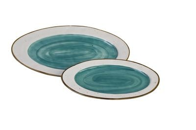 1 5435101 hfa piatela servirismatos country oval blue new bone china 408 x 236 x 27