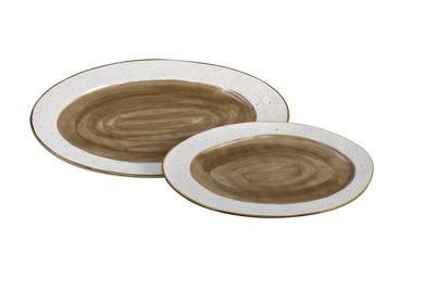 1 5435202 hfa piatela servirismatos country oval brown new bone china 325 x 205 x 23