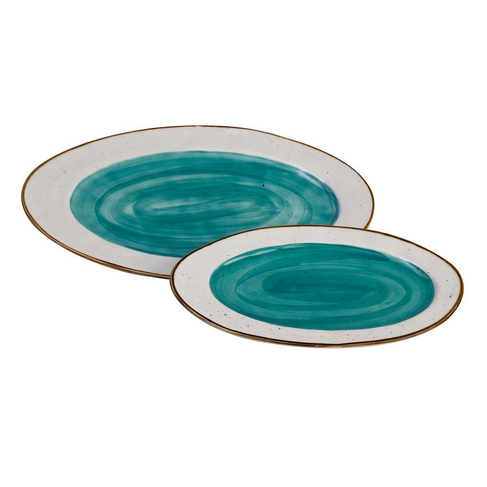 1 5435201 hfa piatela servirismatos country oval blue new bone china 325 x 205 x 23