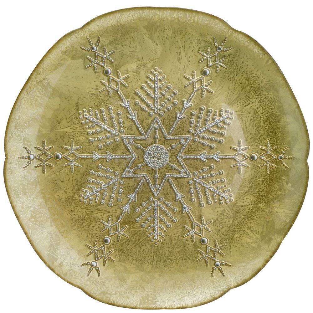 1 5481331 hfa piatela 32cm gold silver snowflake