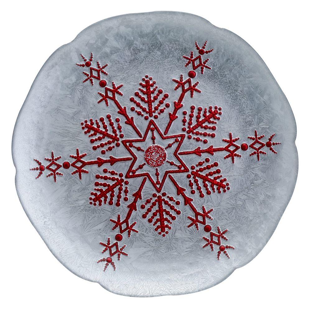 1 5481333 hfa piatela 28cm silver red snowflake