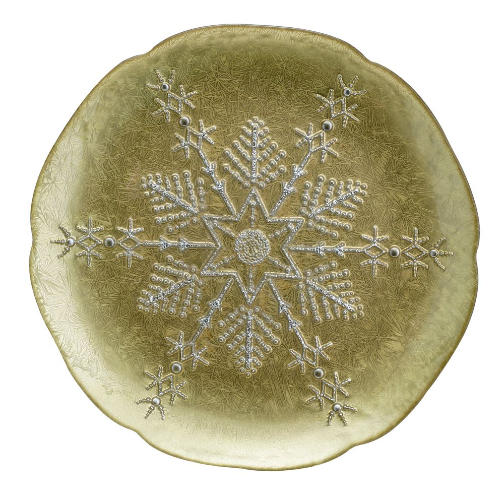 1 5481334 hfa piatela 28cm gold silver snowflake