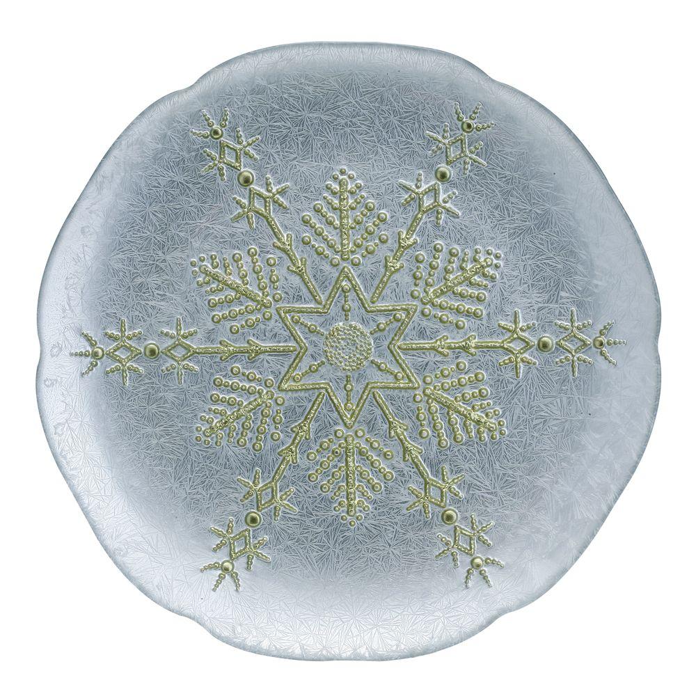 1 5481335 hfa piatela 28cm silver gold snowflake